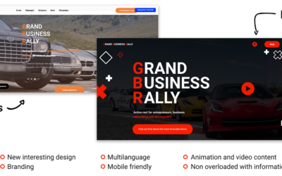 New packaging for The Grand Business Rally Project